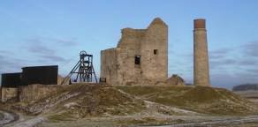 Magpie Mine - buildings and winding frame in the Peak District
