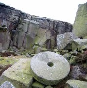 Peak District: millstone, Burbage Edge